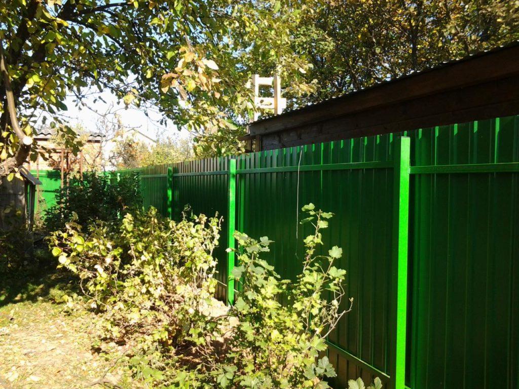 Забор из профнастила в Казани