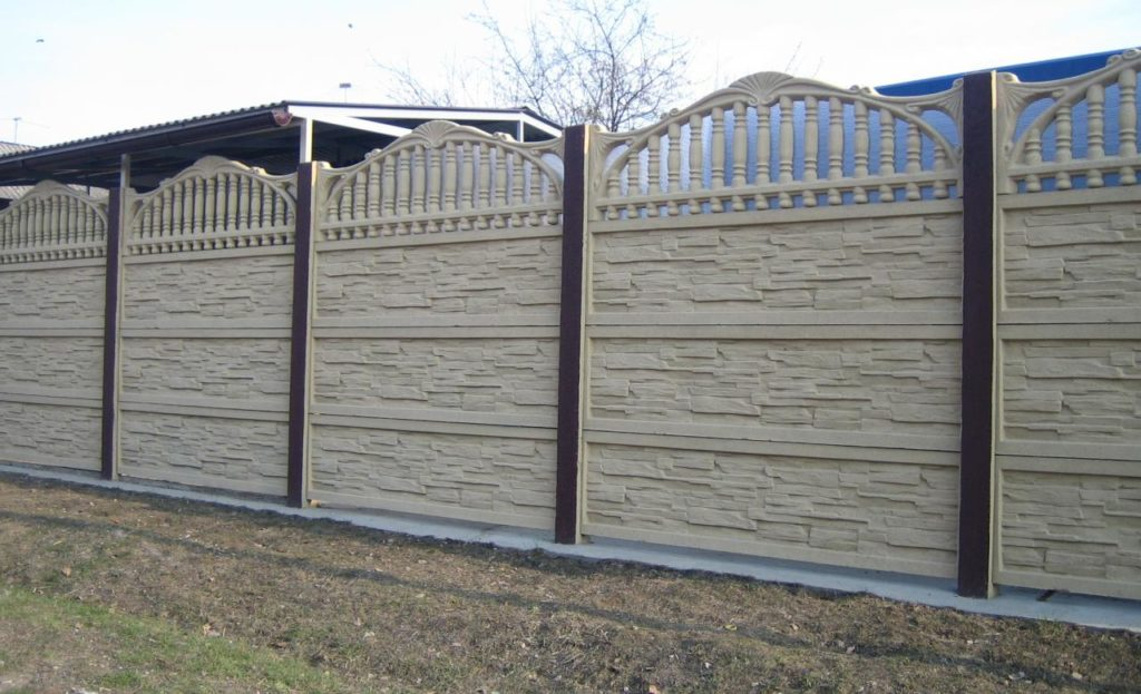 Заборы из бетона под ключ