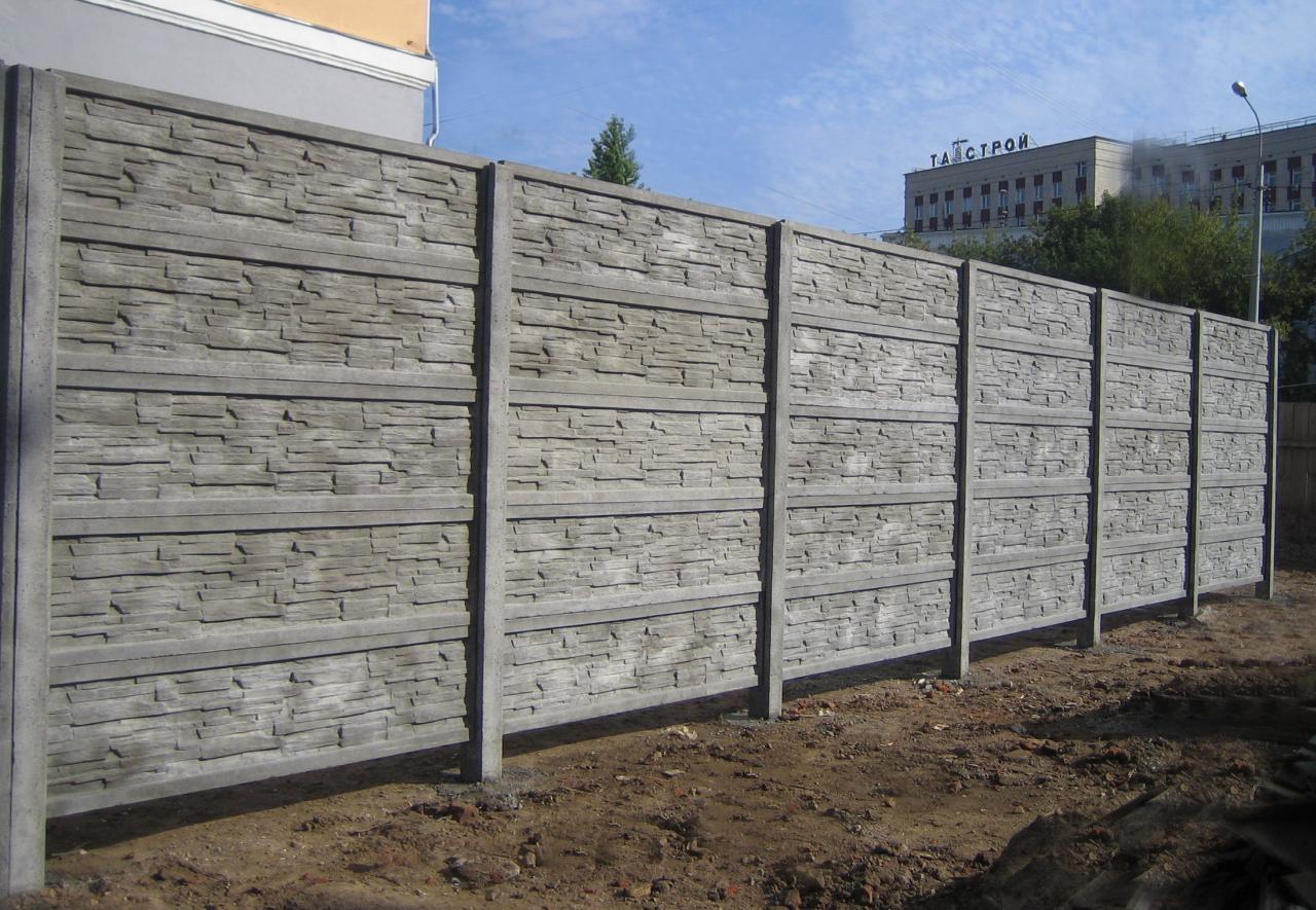 Производство и установка бетонных секционных заборов