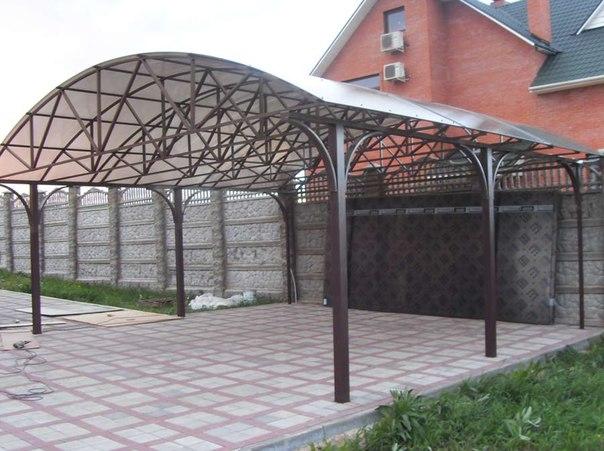 Изготовление арочных навесов из поликарбоната